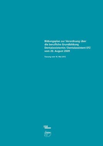 Bildungsplan zur Verordnung über die berufliche ... - admin.ch