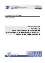 Work Characteristics and Work Performance of Knowledge ... - EFZG