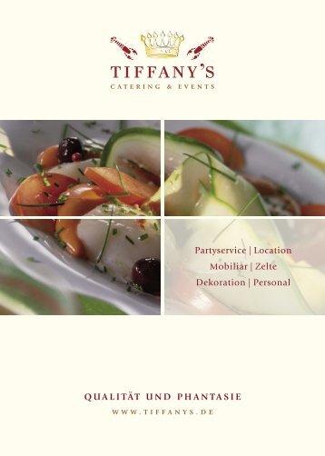 Prospekt / Katalog - Tiffany`s Catering & Events