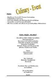 "Kaltes Buffet ""Rustikal"" - Culinary-Event"