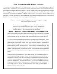 Priest Reference Form For Teacher Applicants - the York Catholic ...