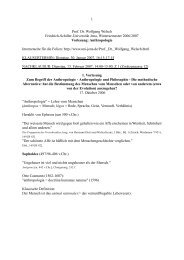 Anthropologie? - Friedrich-Schiller-Universität Jena