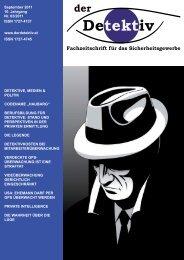 """Der Detektiv"""", Ausgabe 03/2011, S.25 ff."""