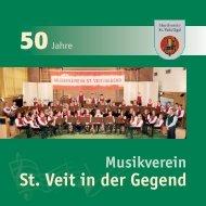 Festschrift 2010 (Jubiläumsjahr) - Musikverein St. Veit in der Gegend