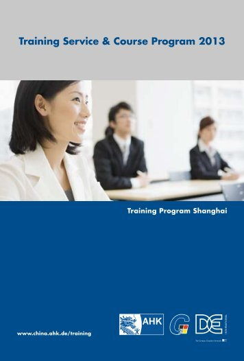 Training Service & Course Program 2013 - AHK