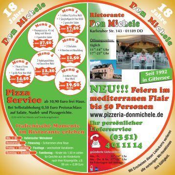 Menü - Pizzeria Don Michele