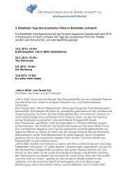 3. Bielefelder Tage des Israelischen Films im Bielefelder Lichtwerk ...