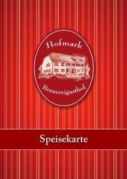 Speisekarte - Hofmark Brauereigasthof