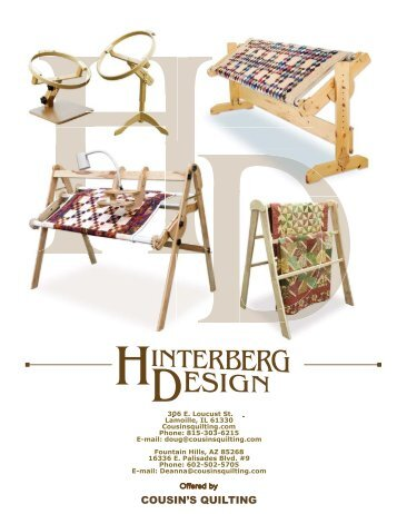 Attaching aprons and quilt to Hand Frames - Hinterberg Design