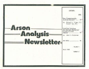 Vol. 7 No. 2 March 1983 OCR - National Center for Forensic Science