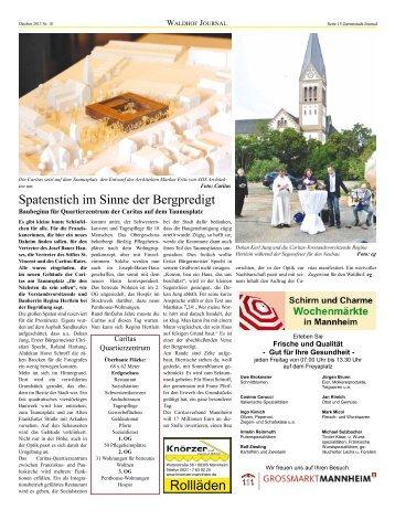 Gartenstadt Waldhof Journal Oktober 2013_Teil 2 - Bürgerverein ...