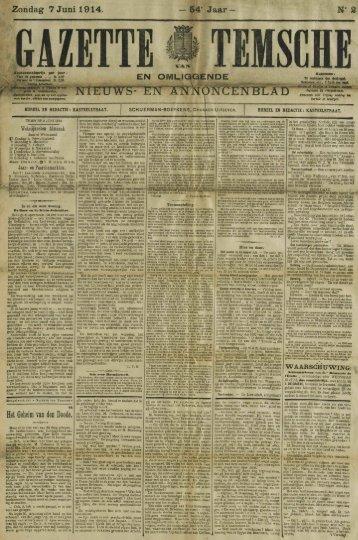 Zondag 7 Juni 1914. — 54* Jaar — N° 2
