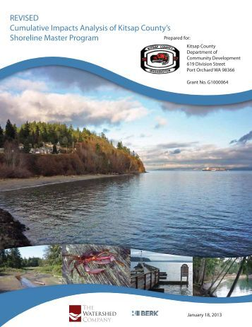 cumulative impacts analysis kitsap county shoreline master program