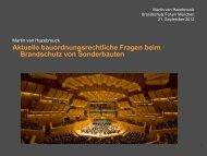 Bayerische Bauordnung 2012 - BRANDSCHUTZ FORUM MÜNCHEN