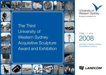 UWS Acquisitive Sculpture Award and Exhibition 2008 - Brochure