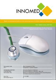 Report on contemporary health services concerning issues of ...
