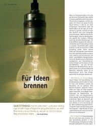 Für Ideen brennen