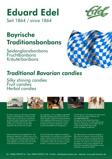 Traditional herbal candies - Eduard Edel GmbH Bonbonfabrik