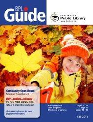 Fall 2013 Community Open House - Burlington Public Library