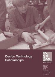 Design Technology Scholarships - Whitgift School