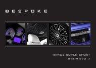 RANGE ROVER SPORT GTS-R EVO // - Bespoke Cars