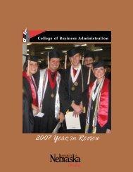 2007 Year in review - UNO CBA - University of Nebraska at Omaha