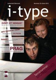 I-type 23 - Sektionen för Industriell ekonomi vid Lunds Tekniska ...