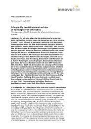 PRESSEINFORMATION Trümpfe für den Mittelstand auf ... - Innovabee