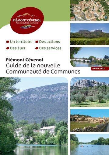 Guide de la nouvelle Communauté de Communes