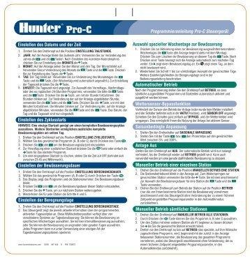 Pro-C - Hunter Industries