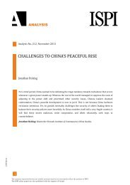 CHALLENGES TO CHINA'S PEACEFUL RISE - Ispi