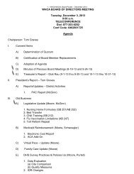 December 2013 Board Packet - Wisconsin Health Care Association