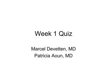 Week 1 Quiz