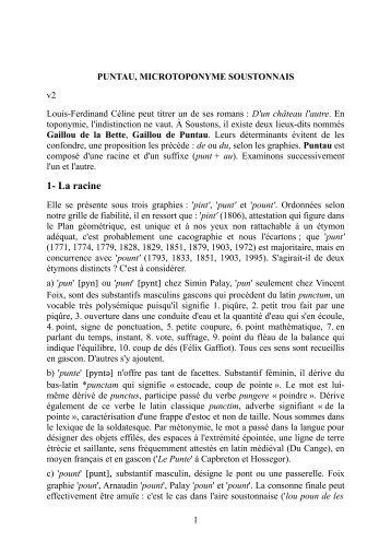 Voir la grande note - Soustons : lieux-dits et noms de lieux