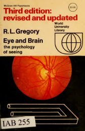 Eye and brain : the psychology of seeing