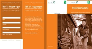 Potenzschwäche IIEF-EF-Fragebogen