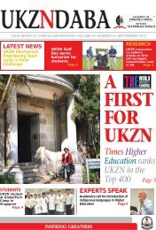 Times Higher Education ranks UKZN in the Top 400 Page 3