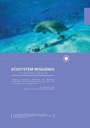 ECOSYSTEM RESILIENCE - Great Barrier Reef Marine Park Authority