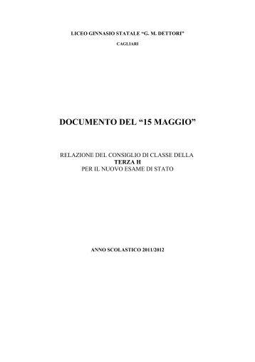 documento del 15 maggio a.s. 2011-2012 - Liceoclassicodettori.It