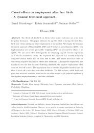 Causal effects on employment after first birth - A ... - University of York