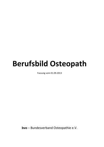 Berufsbild Osteopath - Bundesverband Osteopathie eV