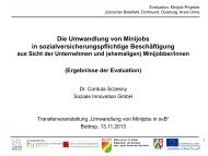 Präsentation Dr. Cordula Sczesny, Soziale Innovation GmbH