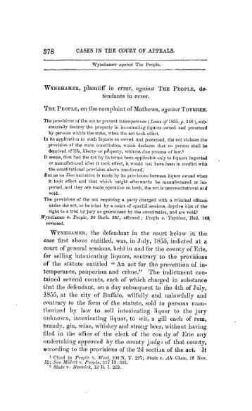 Wynehamer v People.pdf - The University of Texas at Austin