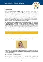 Aktuelle Ausgabe lesen - Montessori Campus Friedberg Hessen