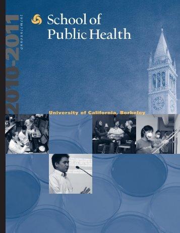 The School of Public Health, Degrees, Special Programs PUBLIC ...