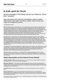 In Kalk spielt die Musik - Wohnen am Bürgerpark - Köln Kalk