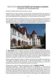ein aktueller Bericht von der Besuchsreise im - Gustav-Adolf-Werk