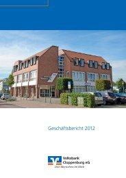 Geschäftsbericht 2012 - Volksbank Cloppenburg eG