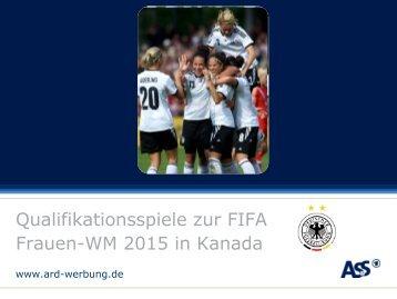 WM 2015 in Kanada. - ARD-Werbung Sales Services GmbH