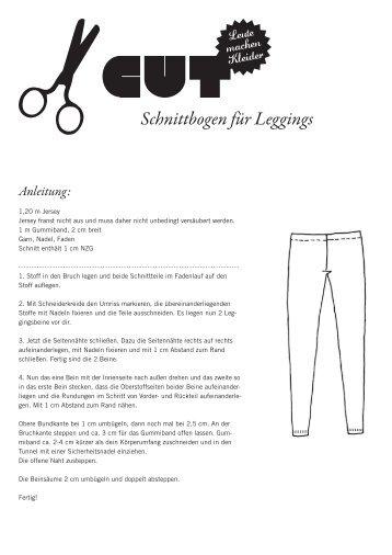 Schnittbogen für Leggings - Cut